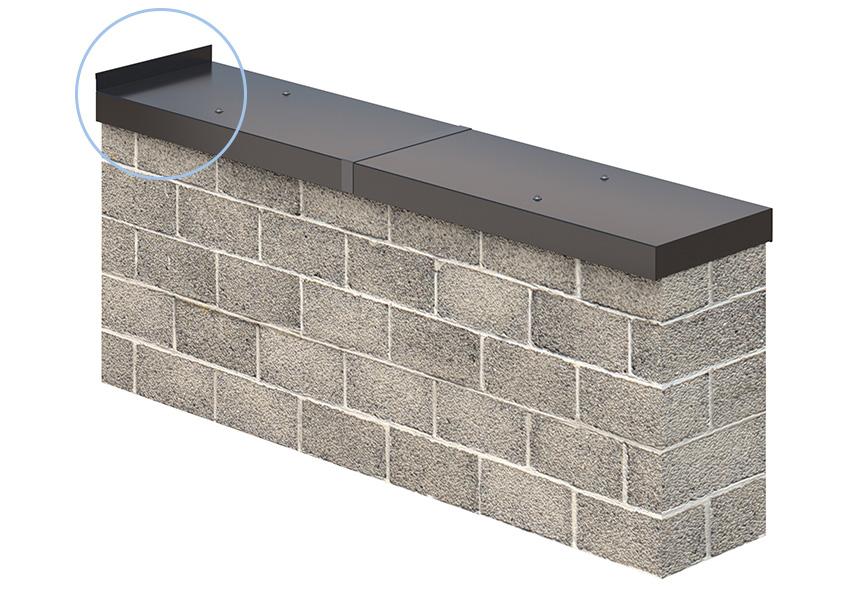 Sarei Haus Und Dachtechnik Gmbh Wandanschluss Für Mauerabdeckung